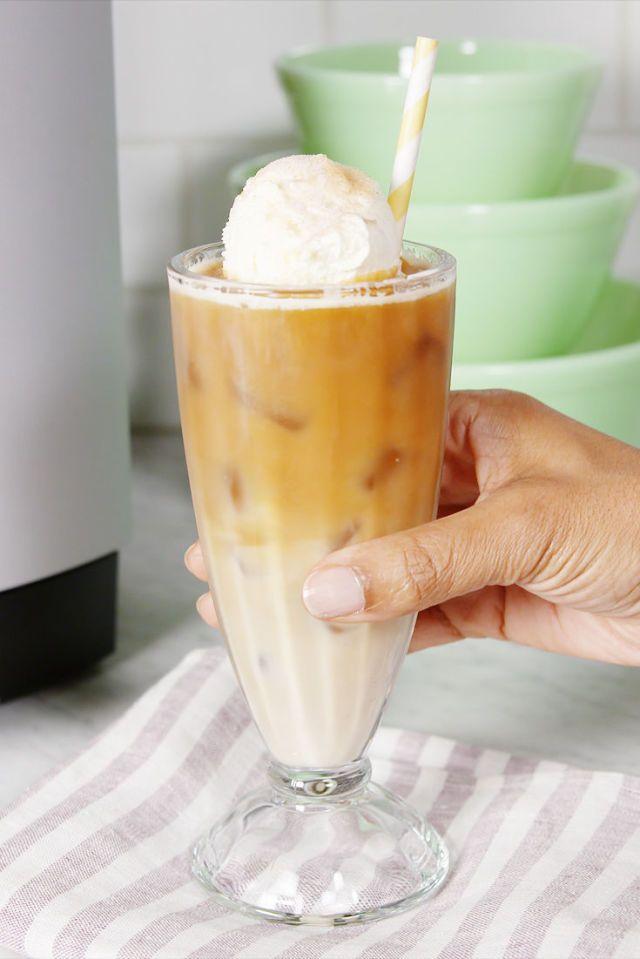 Churro Iced Coffee Float