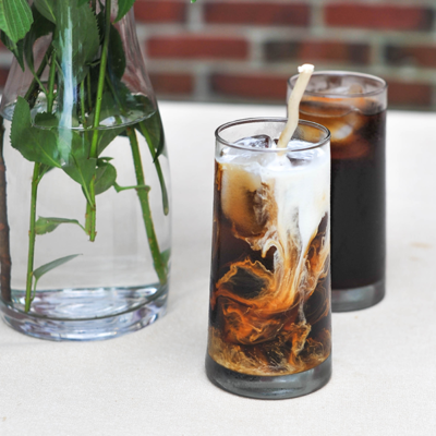 Cold Brewed Iced Coffee And Cream